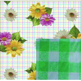 BLINKY DOUBLE-FACE DAISY TABLECLOTH MT. 1.4X30