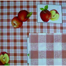 BLINKY DOUBLE-FACE TABLECLOTH RED APPLES MT. 1.4X30