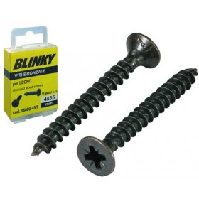 BLINKY BRONZE SCREWS BLISTER MM. 4.5X35