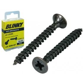 BLINKY BRONZE SCREWS BLISTER MM. 4X35