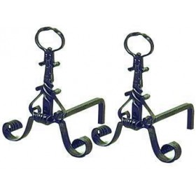 WROUGHT IRON ANDIRS WITH LUXURY RING 312