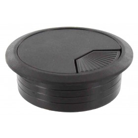 BLACK PLASTIC CABLE COVER DIAMETER MM. 60