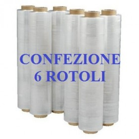 6 ROLLS EXTENSIBLE FILM FILM CM. 50X300ML TRANSPARENT KG. 2.5