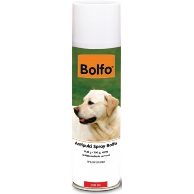 BOLFO SPRAY INSECTICIDE FLEAS AND TICKS FOR DOGS ML. 250
