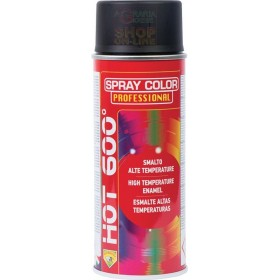 BOMBOLETTA SPRAY ALTA TEMPERATURA 600 GRADI HOT NERO LUCIDO ML. 400