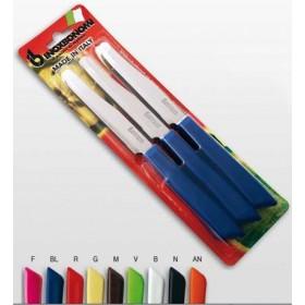 BONOMI 6-PIECE TABLE KNIVES SET BLUE HANDLE