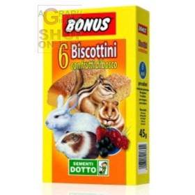 BONUS BISCUITS FOR RODENTS WITH WILD BERRIES PCS. 6