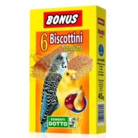 BONUS BISCOTTINI PER UCCELLINI CON FRUTTA PZ. 6