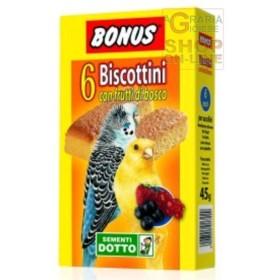 BONUS BISCOTTINI PER UCCELLINI CON FRUTTI DI BOSCO PZ. 6
