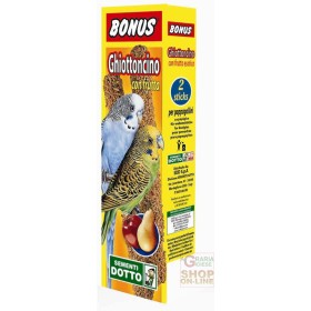 BONUS STICK GHIOTTONCINO FOR PARROTS WITH FRUIT PCS. 2