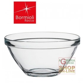 BORMIOLI GLASS SALAD BOWL POMPEII CL 206 DIAM. 17