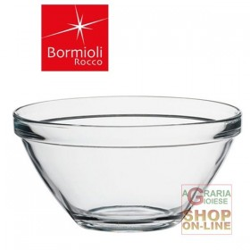 BORMIOLI GLASS SALAD BOWL POMPEII CL 245 DIAM. 23