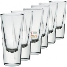 BORMIOLI SET 3 GLASS GLASSES BISTRO BAR FOR LIQUEUR CL. 13.5