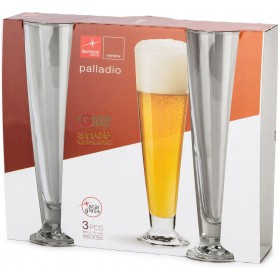 BORMIOLI SET 3 GLASS GLASSES PALLADIUM GLASS FOR BEER ML. 300