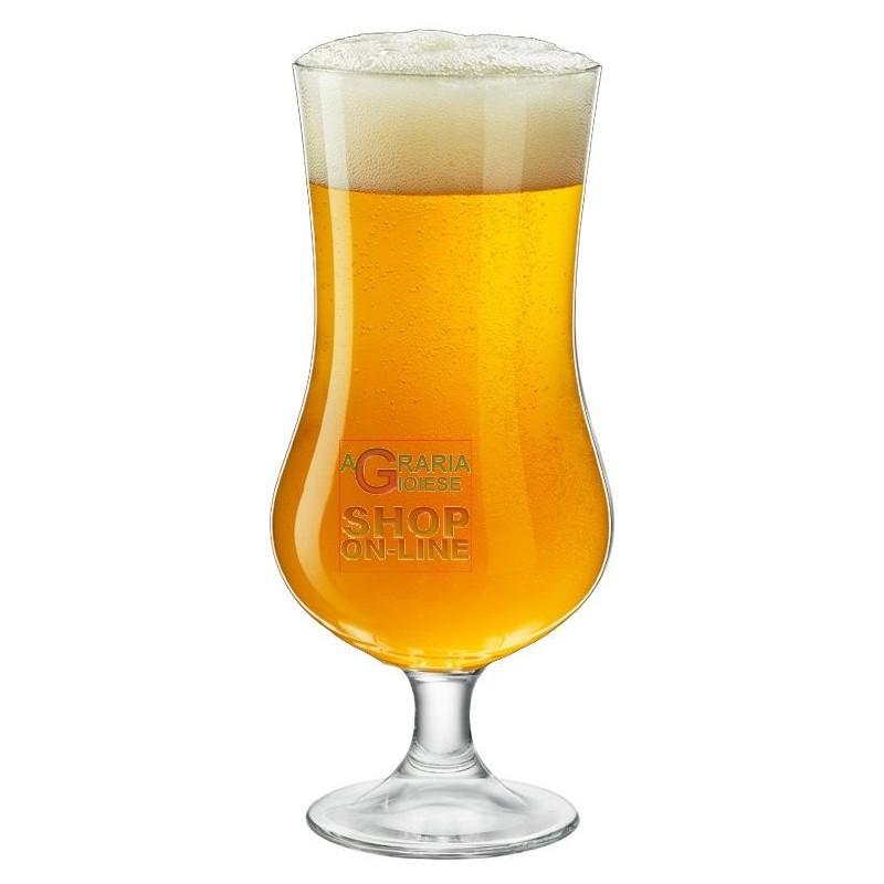 Bormioli Set 4 Bicchieri In Vetro Ale Calice Per Birra Cl 50