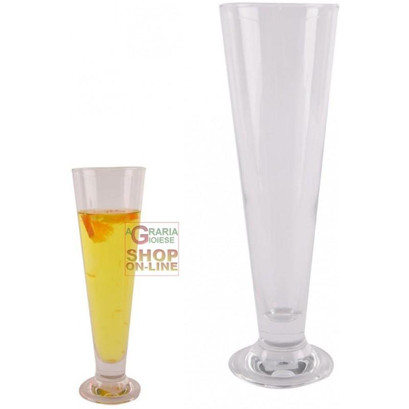 Bormioli Set 4 Bicchieri In Vetro Pils Per Birra Cl 38 5