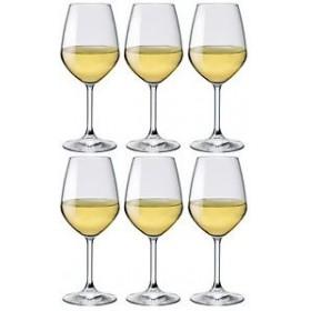 BORMIOLI SET 6 DIVINE GLASS GLASSES FOR WHITE WINE CL. 53