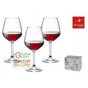 BORMIOLI SET 6 DIVINE GLASS GLASSES FOR RED WINE CL. 53