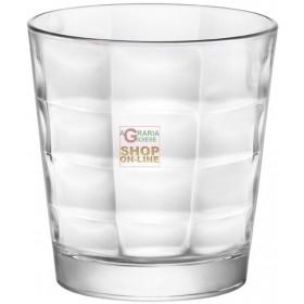 BORMIOLI SET 6 GLASS GLASSES FOR WATER MOD. CUBE CL. 24