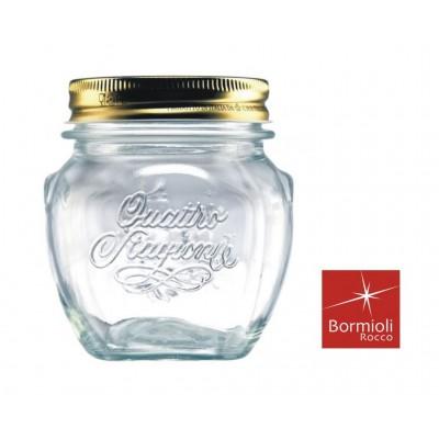 BORMIOLI VASE GLASS AMPHORA FOUR SEASONS WITH LID MM. 70 CL. 30