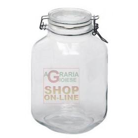 BORMIOLI FIDO GLASS JAR WITH AIRTIGHT CAP CL. 200