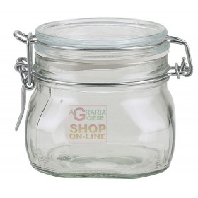 BORMIOLI FIDO GLASS JAR WITH AIRTIGHT CAP CL. 50