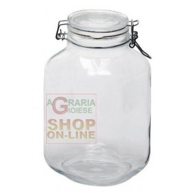 BORMIOLI FIDO GLASS JAR WITH AIRTIGHT CAP CL. 500