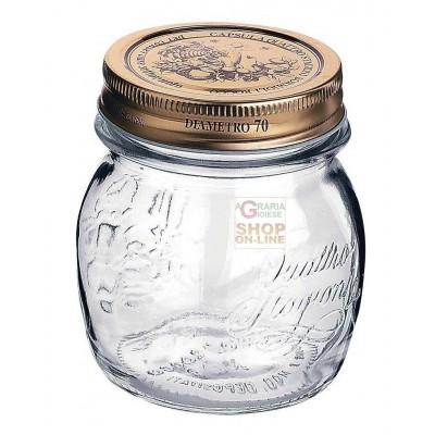 BORMIOLI GLASS VASE FOUR SEASONS WITH CAP DIAM. 70mm. CL. 25