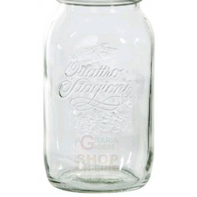 BORMIOLI GLASS JAR FOUR SEASONS WITHOUT CAP LT. 1.5