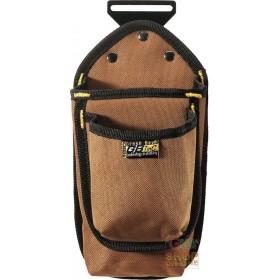 CARPENTER 1 POCKET BAG IN BROWN CANVAS FABRIC
