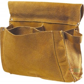 CARPENTER BAG IN CRUST 3 POCKETS COLOR YELLOW