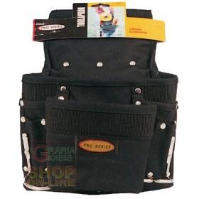 CARPENTER BAG PRO BLACK MULTIPOCKETS
