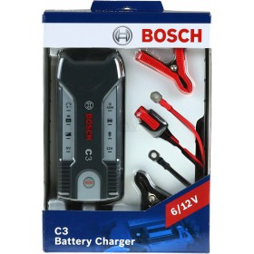 BOSCH C3 BATTERY CHARGER FOR CAR AND MOTORCYCLE 6V 12V BATTERIES