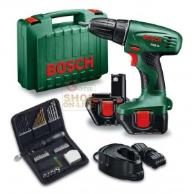 BOSCH DRILL WITH 2 BATTERIES 12V 1,2 AH PSR 12 WITH CASE SET