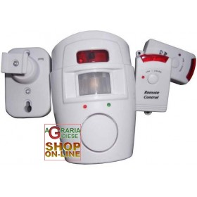 SENSOR ALARM WITH 2 REMOTE CONTROLS 105db siren