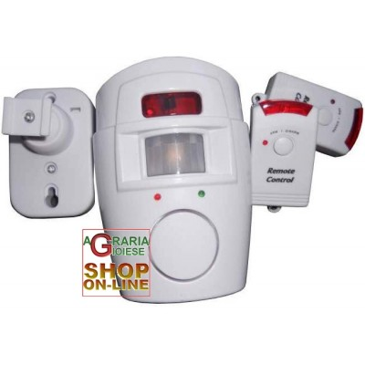 SENSOR ALARM WITH 2 REMOTE CONTROLS 105db siren
