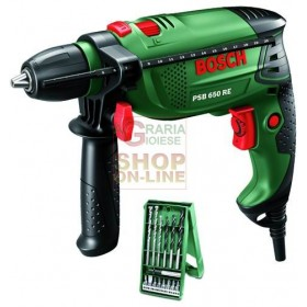 BOSCH ELECTRIC IMPACT DRILL PSB650RE WITH XLINE WATT SET. 650