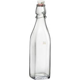 Bormioli Rocco Swing bottle mechanical cap in glass water ml.