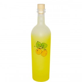 GLASS BOTTLE ELISABETH SATIN YELLOW WITH LIMONCINI C / T CC. 700