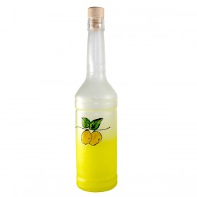 ROSITA GLASS BOTTLE SATIN YELLOW WITH LIMONCINO WITH CAP CC. 700