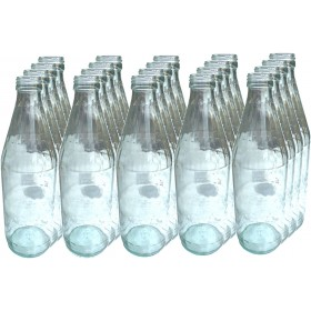 TRANSPARENT GLASS BOTTLE WITH SCREW CAP FOR WINE AND HONEY OIL LT. 1 CONF. 20 BOTTLES