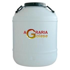 BOTTIGLIONE IN PLASTICA BIANCO COCCA LARGA PRED. LT. 50