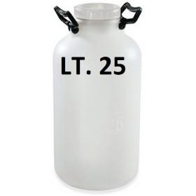 BOTTIGLIONE IN PLASTICA BOCCA LARGA BIANCO LT. 25 B.L. PLASTIM