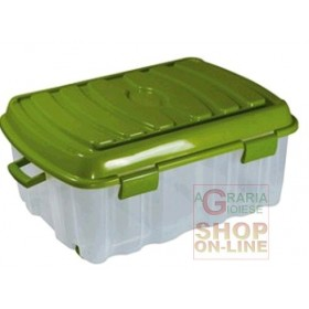 BOX BIG FLAT VOYAGER IN PLASTICA CON COPERCHIO RUOTE E MANIGLIA
