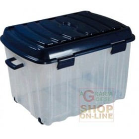 BOX BIG VOYAGER IN PLASTIC WITH WHEELS COVER AND HANDLE LT. 142