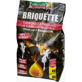 CHARCOAL BRIQUETTE IN 3 KG BAGS.
