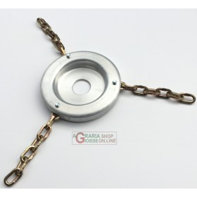 DISC BROGINO FOR BRUSHCUTTER ALUMINUM WITH 3 5-LINK CHAINS