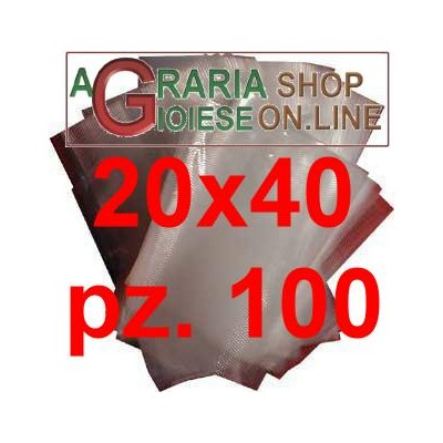 ENVELOPES EMBOSSED VACUUM BAGS 20X40 CM IN PACK OF 100 PCS.