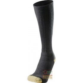 LONG TECHNICAL SOCKS COMPOSED IN COTTON POLYAMIDE KEVLAR® COLOR BLACK GRAY YELLOW