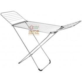 METALTEX LIPARI FOLDABLE CLOTHING RACK WITH ALUMINUM WIRES